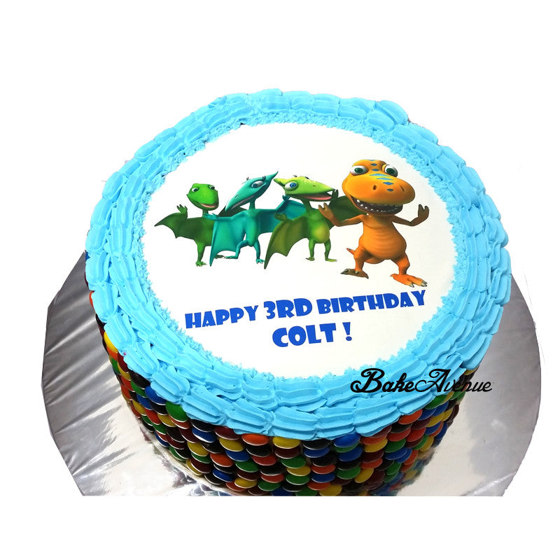 Dinosaur Train M&M Chocolate Cake