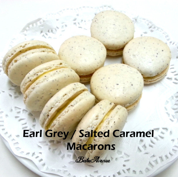 Macarons II - Earl Grey/ Salted Caramel & Blueberry Cream Cheese macarons Baking Class