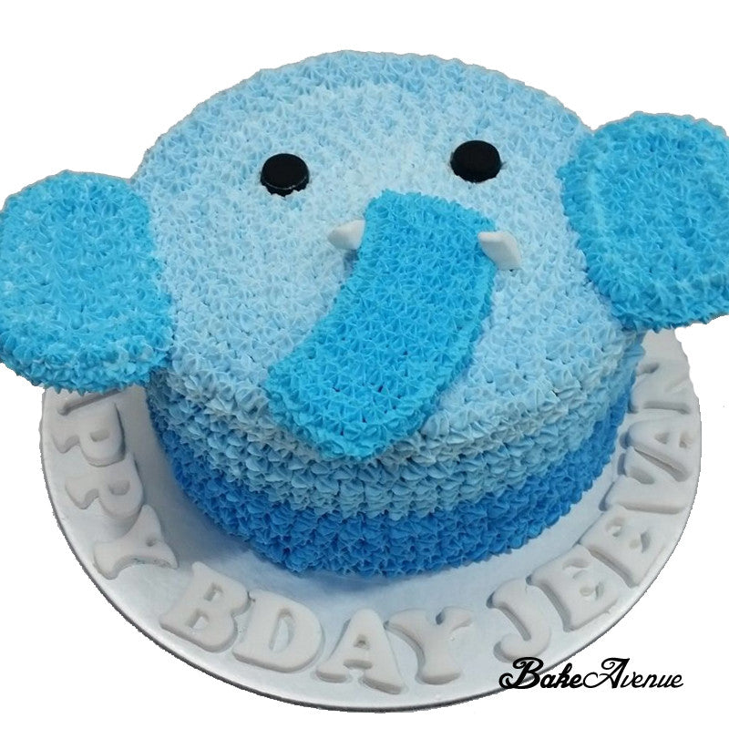 Elephant Face Ombre Cake