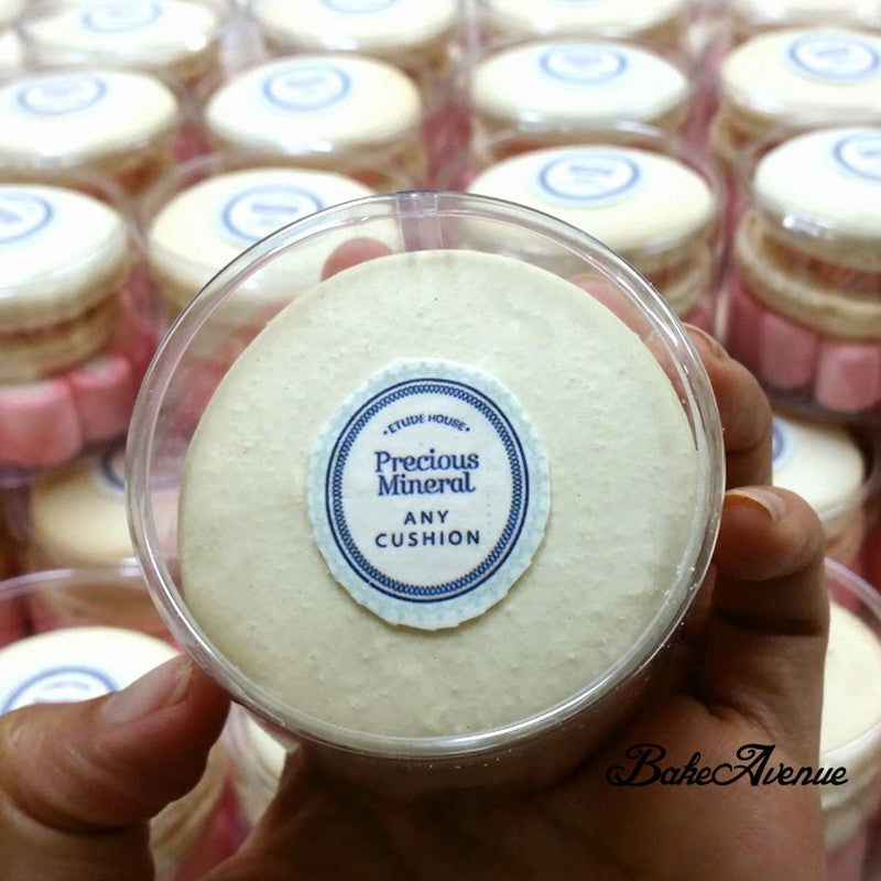 Corporate Orders - Customised Macarons - Company Product (Skincare)