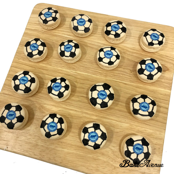 Corporate Orders - Macarons customised to Sports (Soccer)