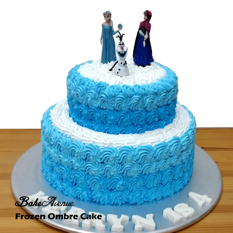 Frozen 2 tiers cake with toppers