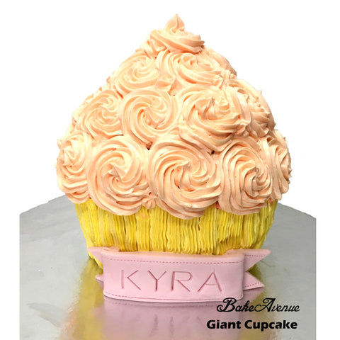 Baby Smash Cake - Giant Cupcake (with name on ribbon)