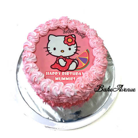 Hello Kitty icing image Ombre Cake
