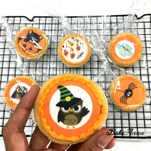 Halloween Theme icing image Cookies