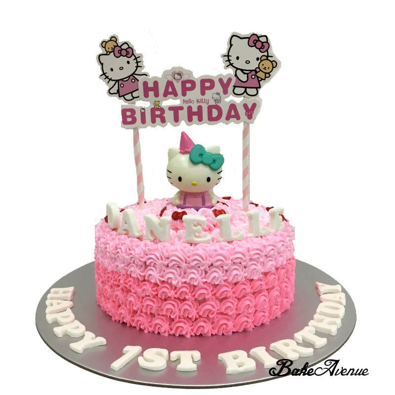 3e993081d Hello Kitty Ombre Cake with toppers – BakeAvenue