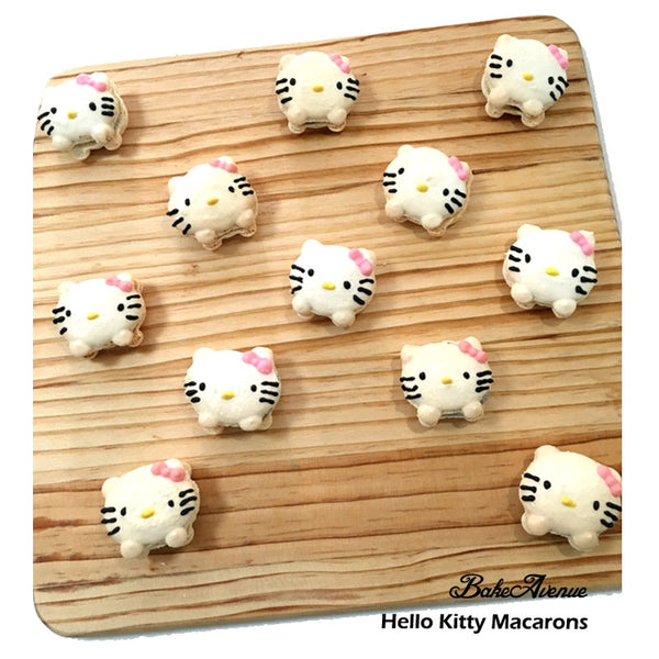 Hello Kitty (with legs) Macarons