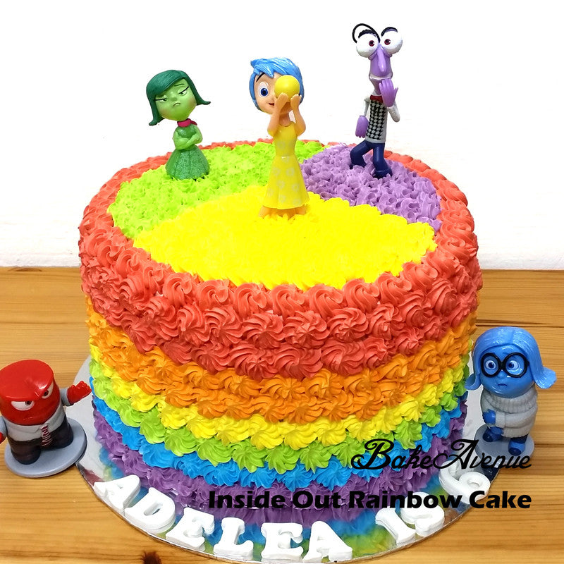 Inside Out Rainbow Cake