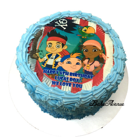 Jake the Pirate Ombre Cake
