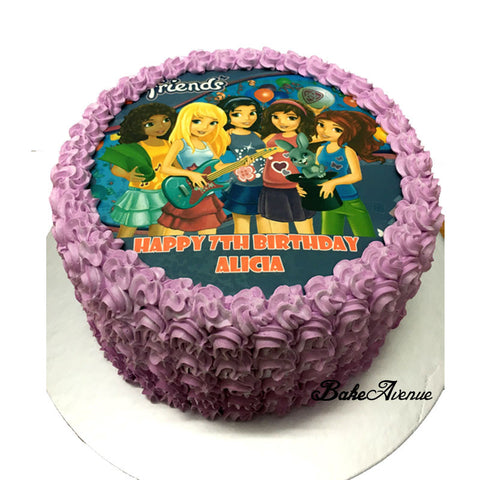 Lego Friends Ombre Cake