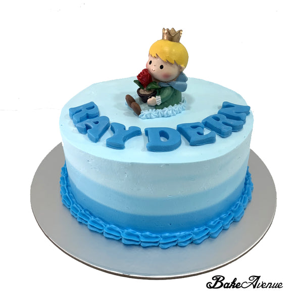 Little Prince Topper Ombre Cake (Design 3) - Ombre Blue