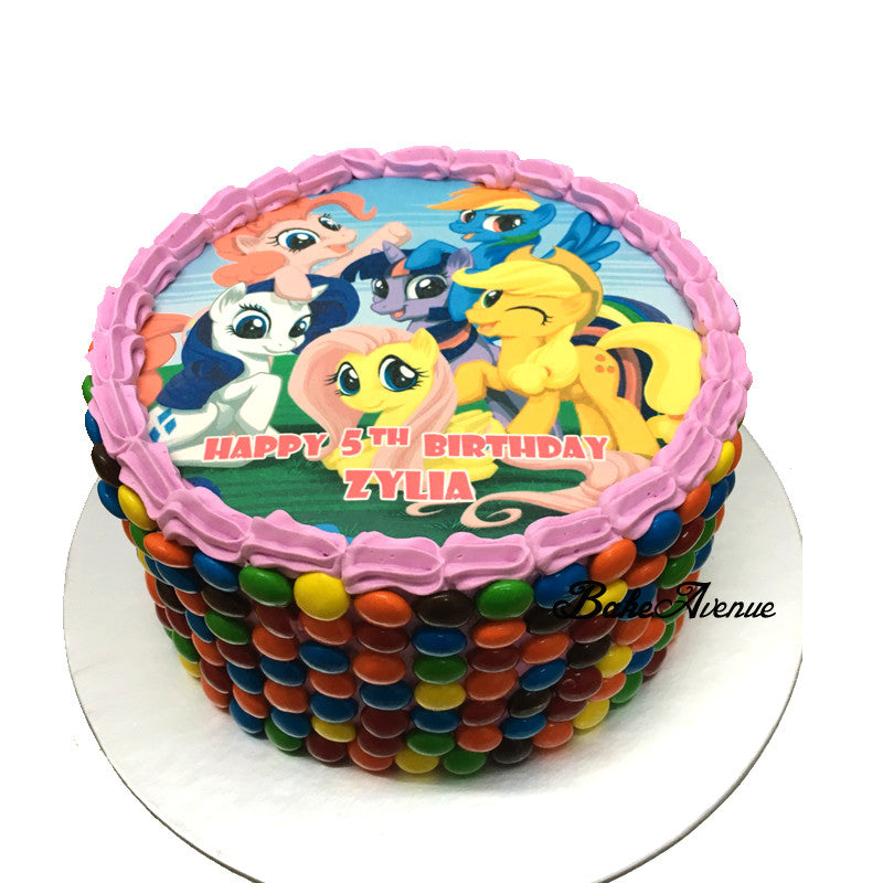 My Little Pony M&M Cake