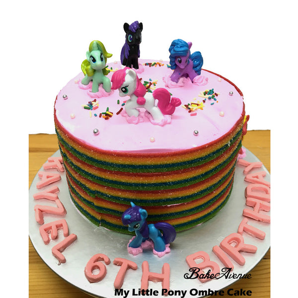 My Little Pony Ombre Cake
