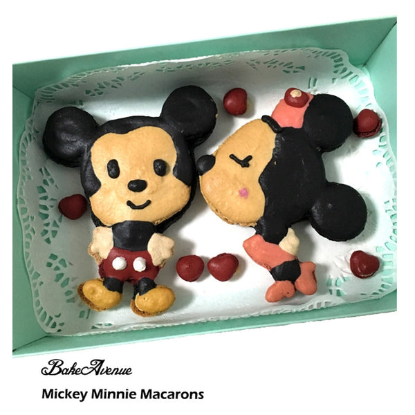 Mickey Minnie Love Set Macarons (Large)