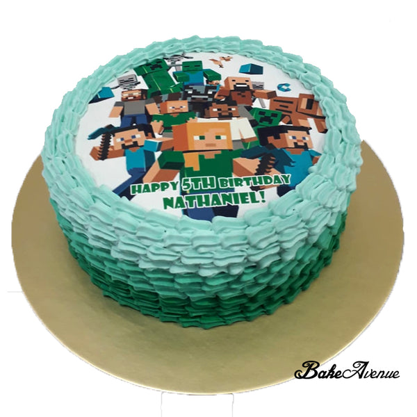 Minecraft icing image Ombre Cake