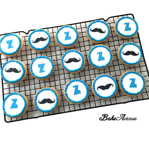 Moustache Theme Cookies