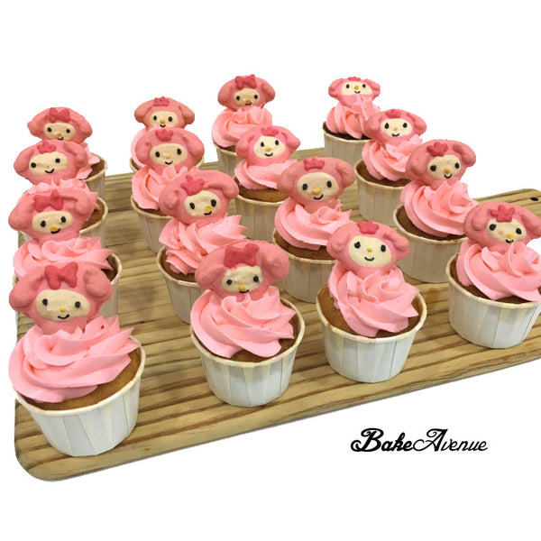My Melody Macaron Cupcakes