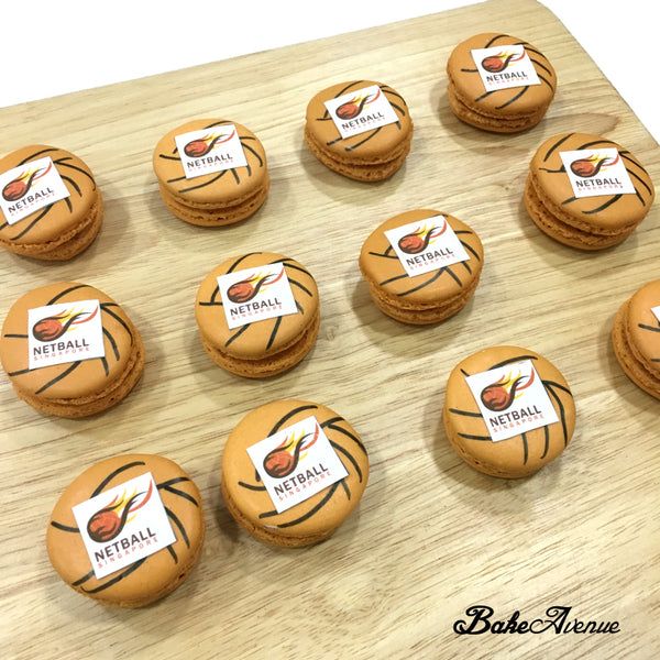 Corporate Orders - Macarons customised to Sports (Netball)