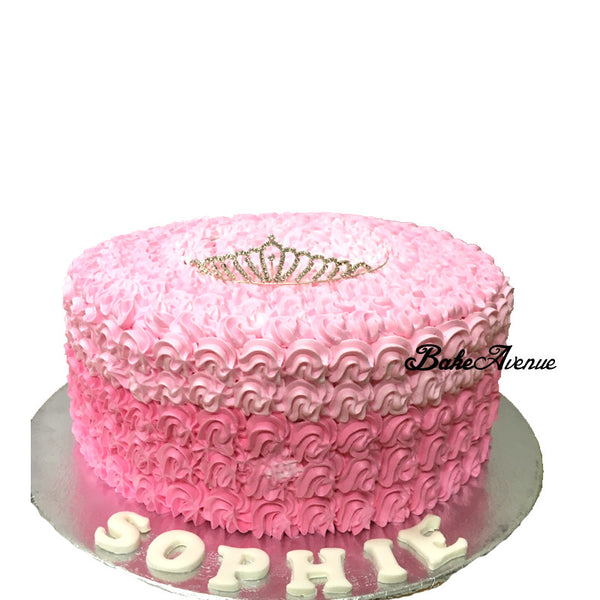 Ombre Cake with Tiara