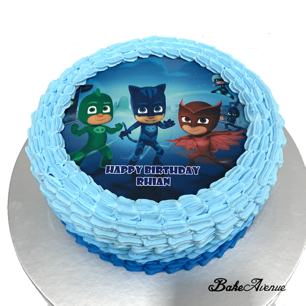 PJ Mask icing image Ombre Cake