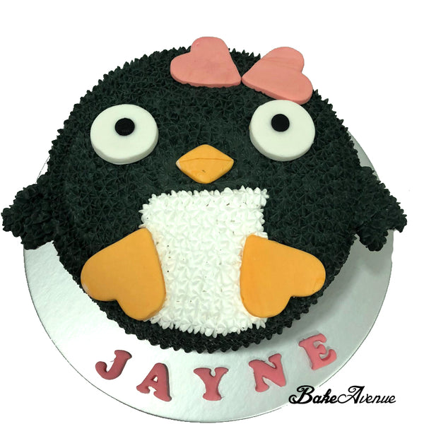 Penguin Face Cake
