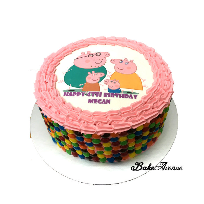 Peppa Pig M&M Chocolate Cake