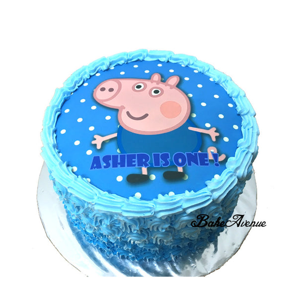 Peppa Pig Ombre Cake