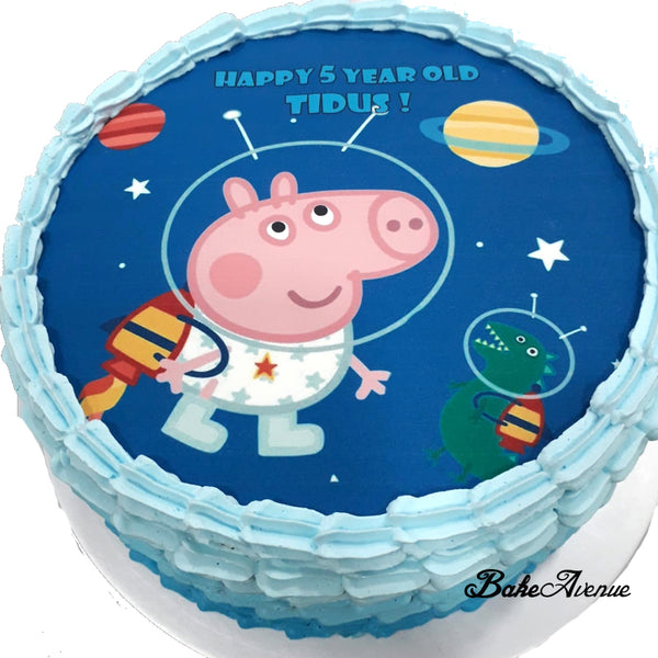Peppa Pig (George) icing image Ombre Cake