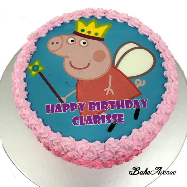 Peppa Pig icing image Ombre Cake