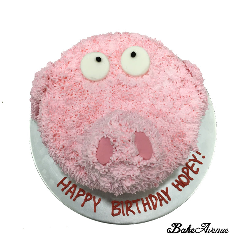 Pig Face Cake (Customised to Ur Soft Toy)