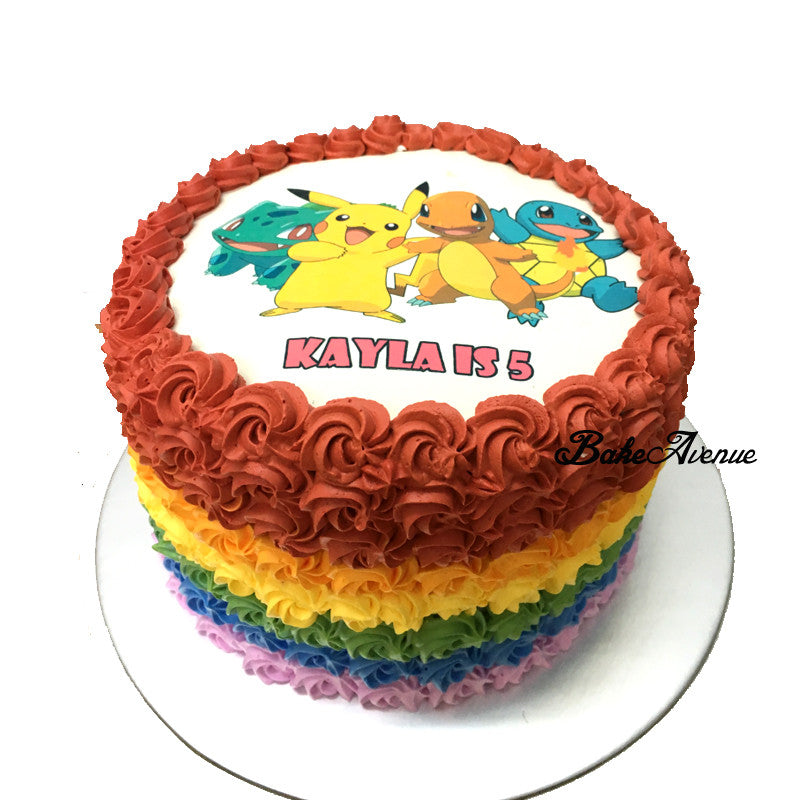 Pokemon Rainbow Cake