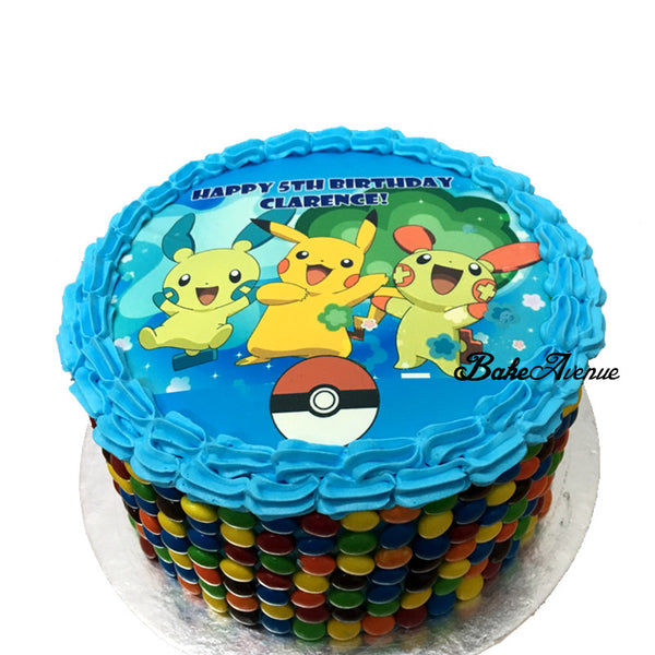 Pokemon M&M Chocolate Cake