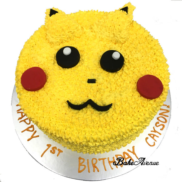 Pokemon Face Cake (Pikachu)