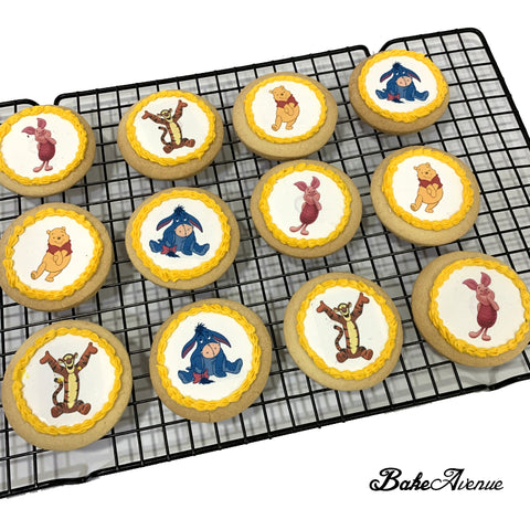 Pooh Theme icing image Cookies