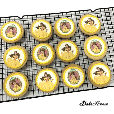 Princess Belle (Beauty & The Beast) icing image Cookies