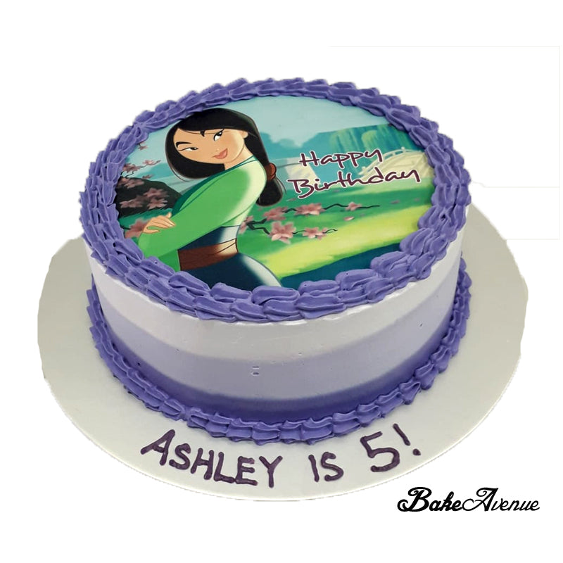 Swell Princess Mulan Icing Image Ombre Cake Bakeavenue Funny Birthday Cards Online Bapapcheapnameinfo