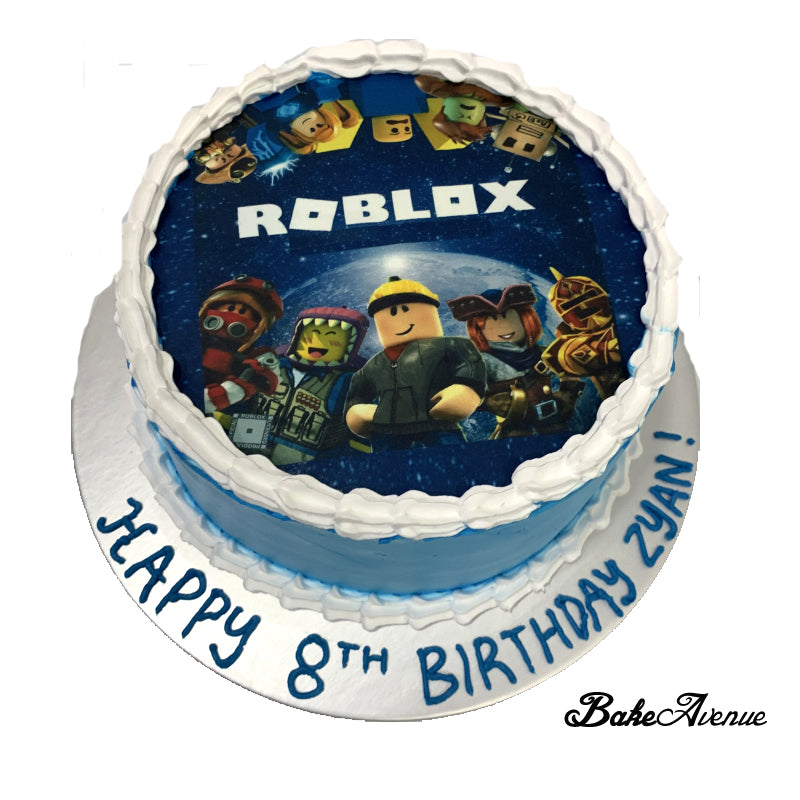 Roblox icing image Ombre (Smooth finish) Cake
