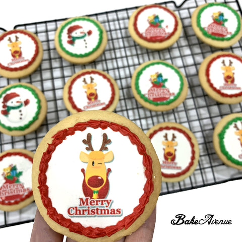 Christmas Cookies - Christmas Round Icing Image Cookies