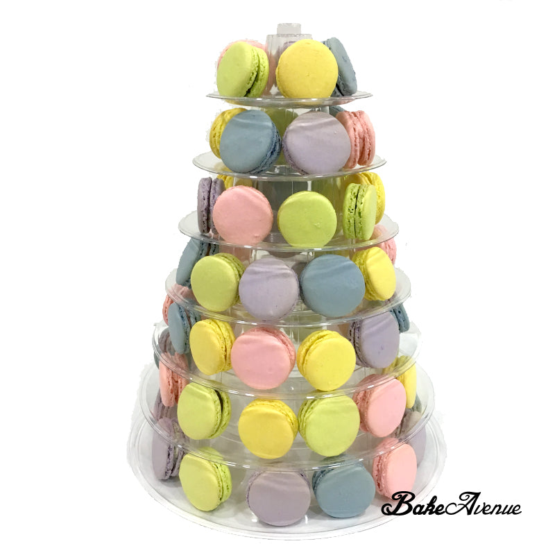 Assorted Colored Round Macaron Tower (with rental of macaron rack)
