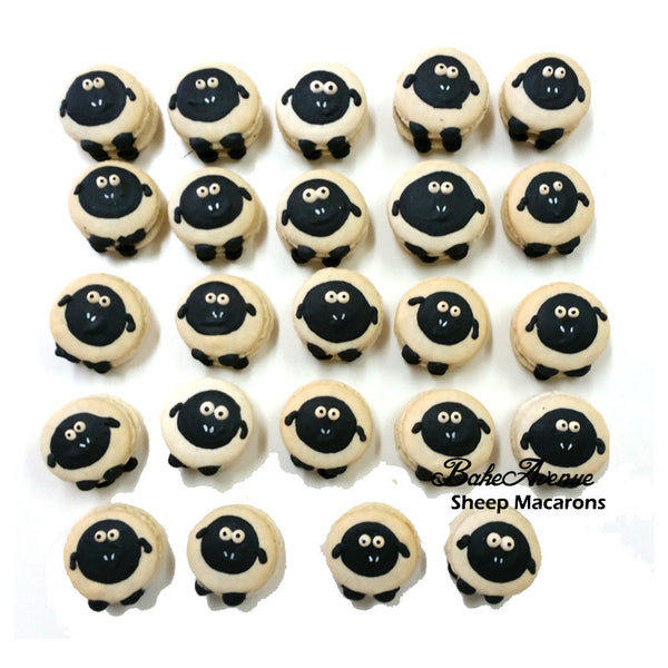 Sheep (Black) Macarons