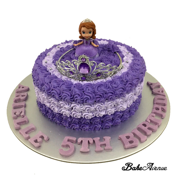 Sofia Ombre Cake with toppers