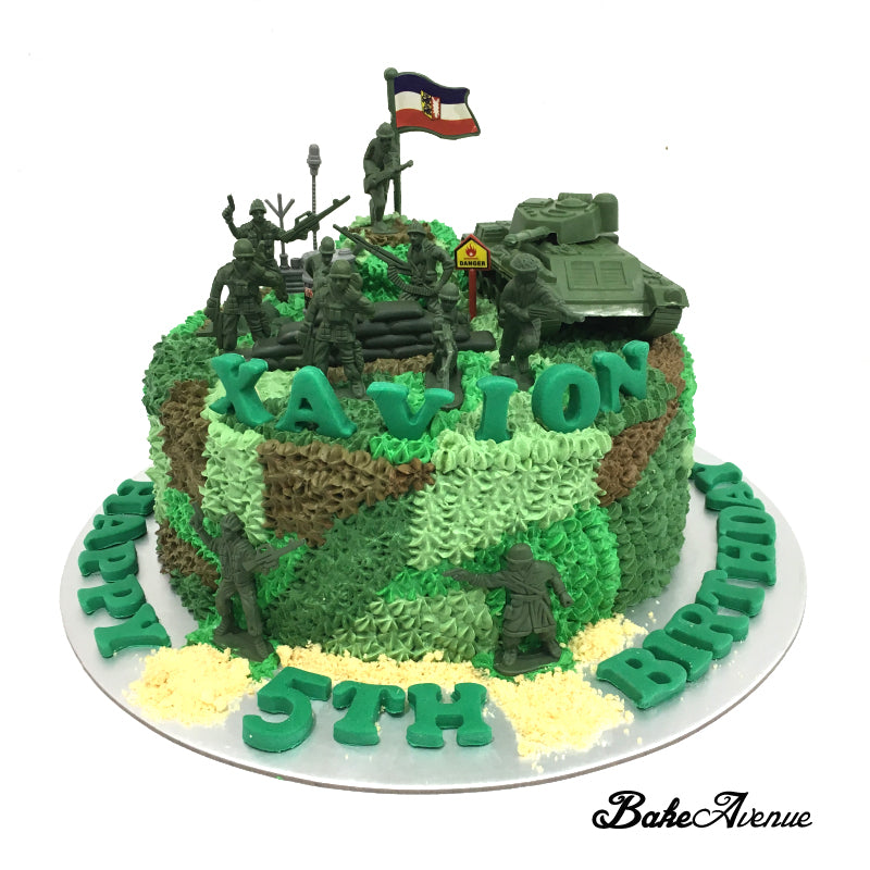 Superb Soldier Army Theme Ombre Cake Bakeavenue Funny Birthday Cards Online Aeocydamsfinfo