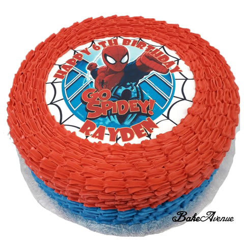 Avengers - Spiderman icing image Ombre Cake