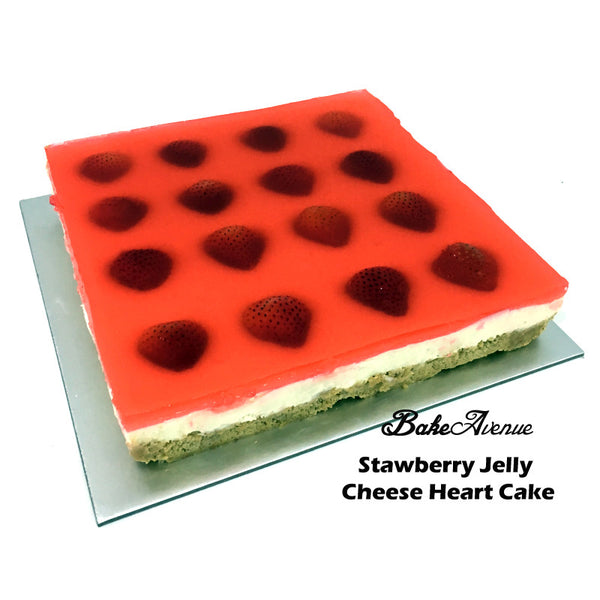Strawberry Jelly Heart Cheese Cake