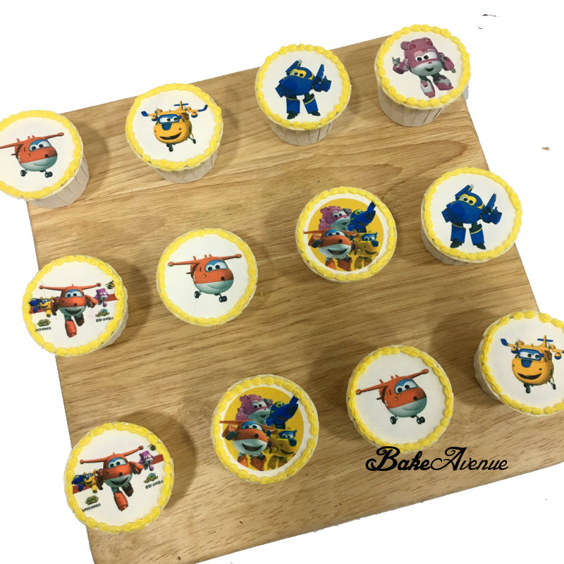 Super Wings icing image Cupcakes