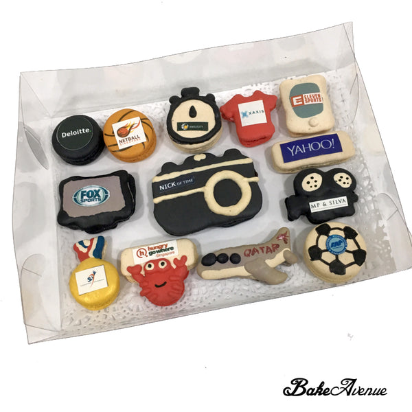 Corporate Orders - Macarons with different logos