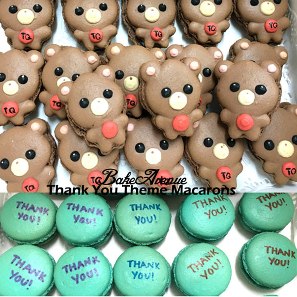 Thank You Bear Macarons