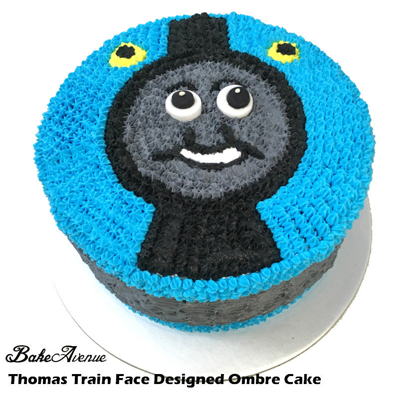 Thomas Train Ombre Cake