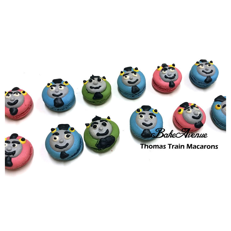 Thomas the Train Macarons
