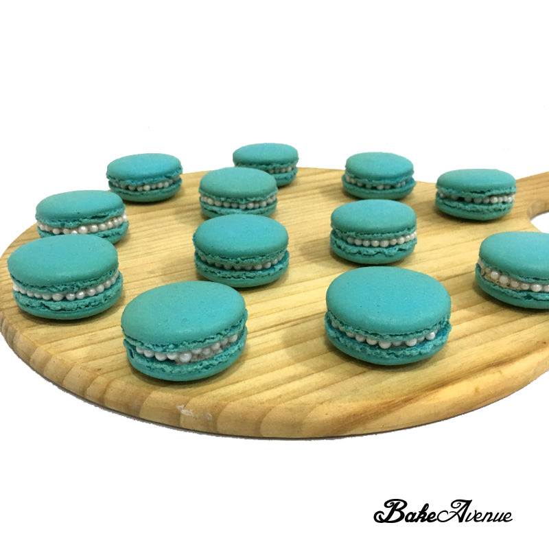 Tiffany Blue (with Pearls) Macarons